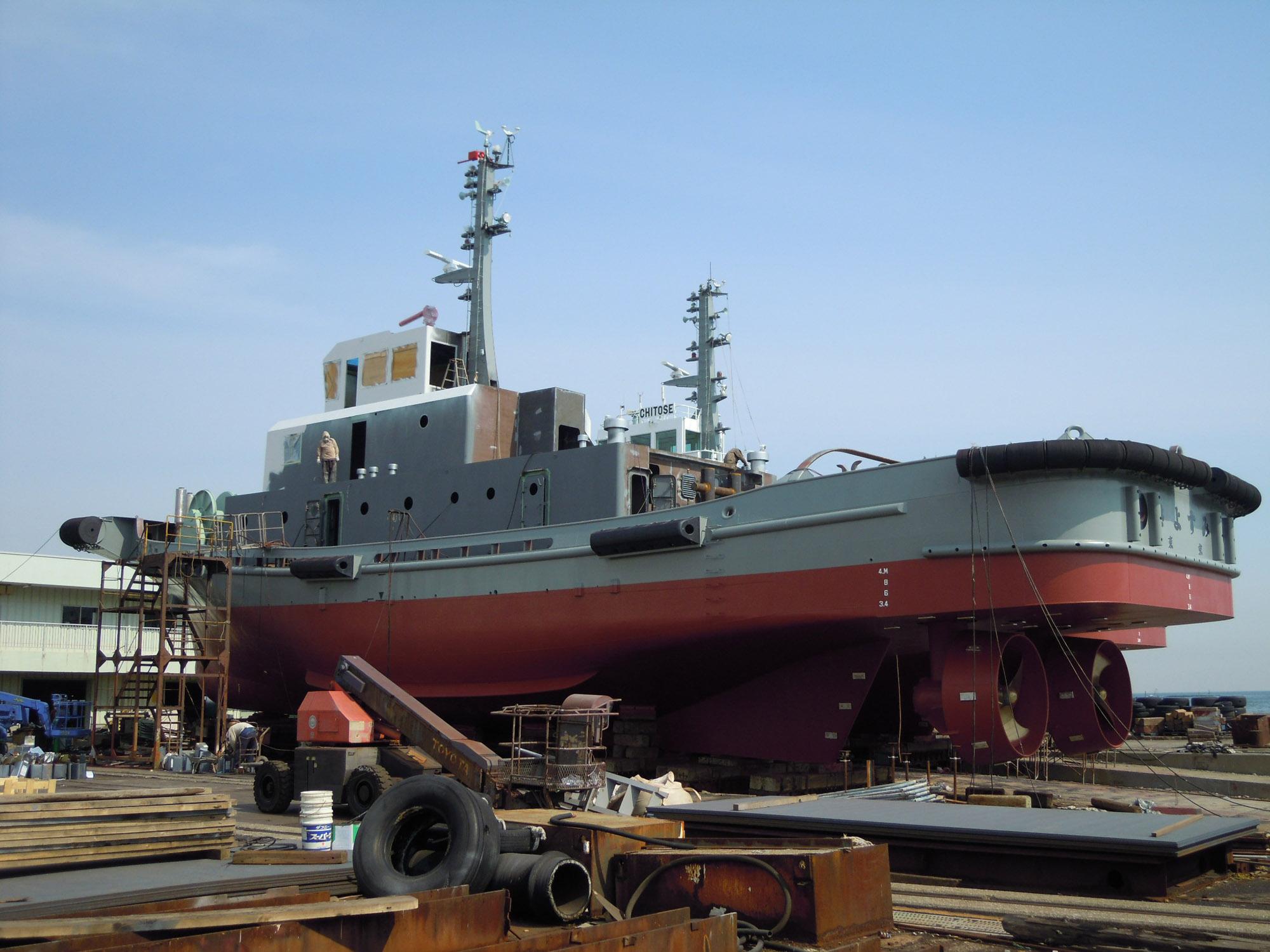 造船 金川 「LNG燃料タグボート」の建造を決定 ~大阪湾で初のLNG燃料船